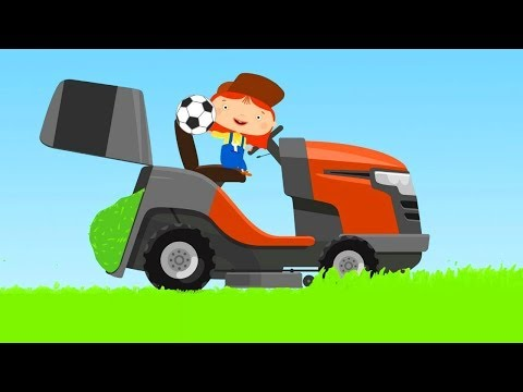 Car Cartoons For Kids: Doctor McWheelie And A Lawnmower.