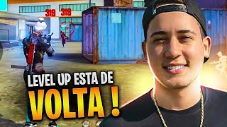 FREE FIRE AO VIVO 🔥 LEVELUP ESTA DE VOLTA RS!  🔥 SOLO RANKED 🔥 LIVE ON