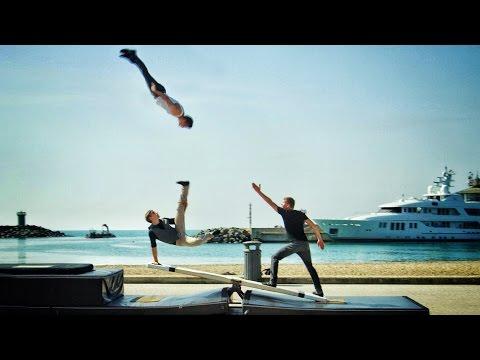 World's Craziest Teeterboard Flips - Streaks Show in 4K!