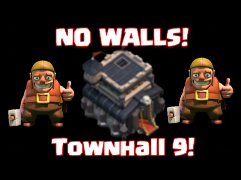 Clash Of Clans Townhall 9 No Walls TH9 Without Walls