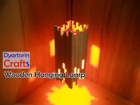 Diy Easy Wooden Hanging Lamp