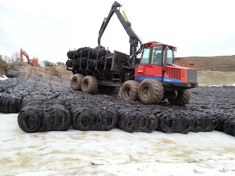 Tyre Bales, Tyre Block benefits in Construction
