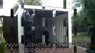 JakMurowane.pl - montaż garażu blaszanego tynkowanego w 7 godzin, Zadzwoń tel.519 117 158
