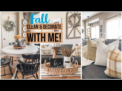 Fall Clean and Decorate with Me! | Fall Cleaning Playlist