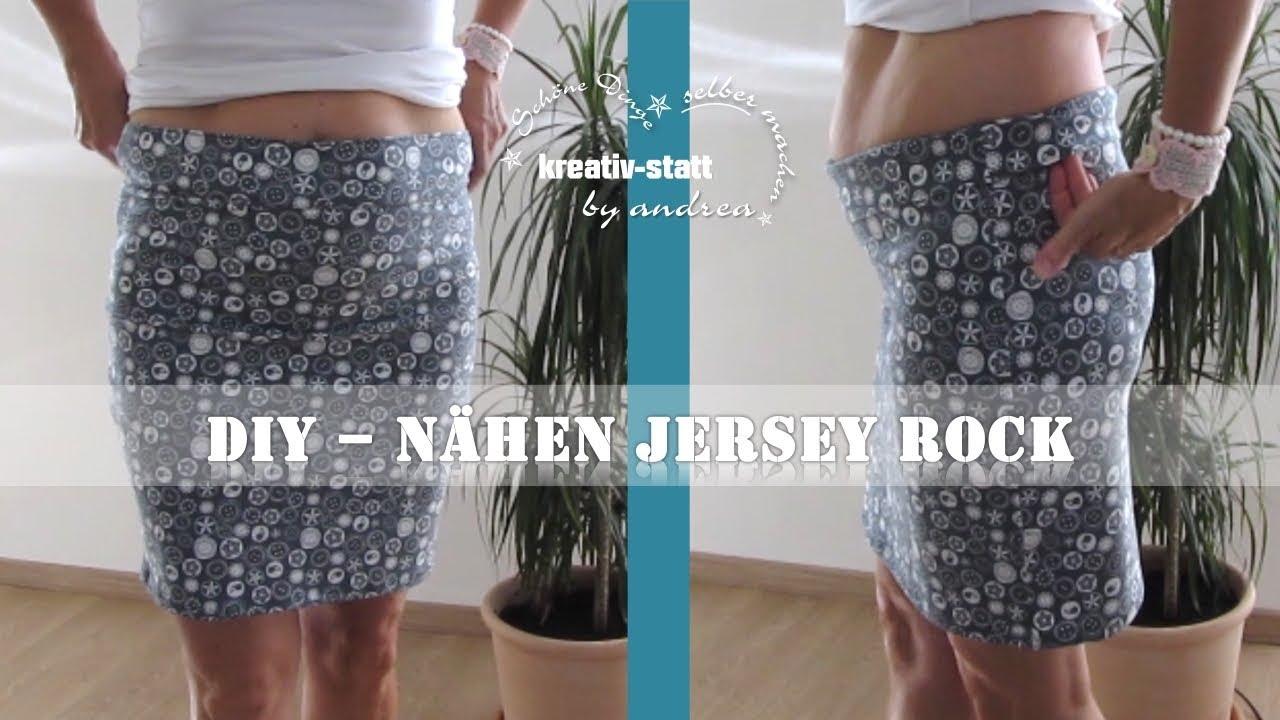 DIY Nähen - Jersey Rock - Hüfte oder Taille - Wie man kopiert - YouTube
