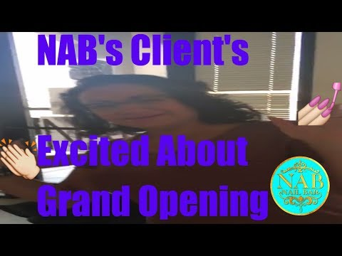 💃🎈NAB's Clients Excited About Grand Opening Coming November💅🏼 Las Vegas Nail Salon Lashes, & Spa