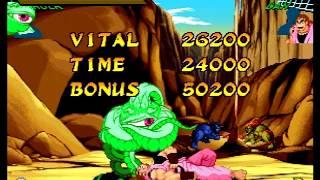 Marvel Super Heroes VS. Street Fighter (Sega Saturn) Arcade as Shuma Gorath/Hulk