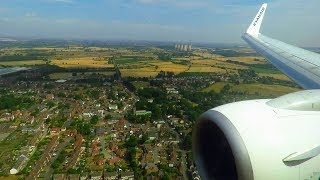Ryanair Boeing 737-800 Wing View Landing at East Midlands Airport! | Seat 8F