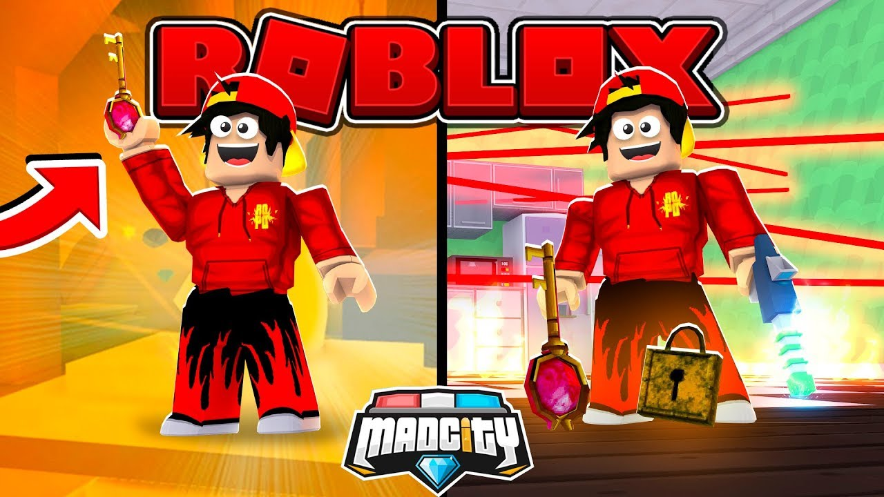 Roblox Mad City Finding The Golden Key To The Death Ray Youtube