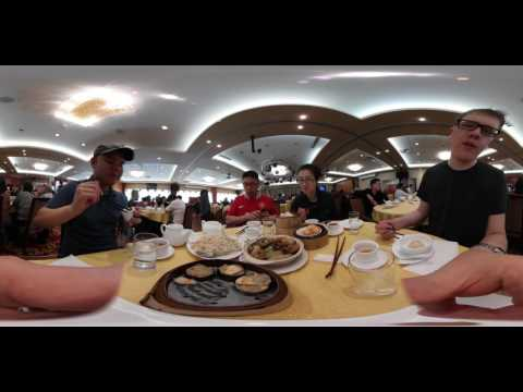 Yummy Chinese Dim Sum at Fraser Court in Vancouver with Samsung Gear 360 in 4k - handheld