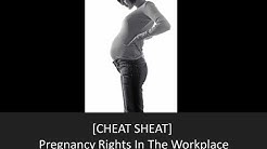 Your Pregnancy Rights In the Workplace [Cheat Sheet]