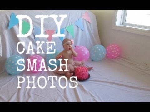 DIY CAKE SMASH PHOTOSHOOT Oct 17 2015 YouTube