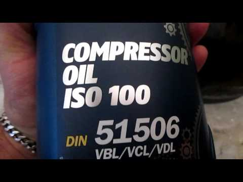 Замена масла в компрессоре ELAND/oil Change In The Compressor