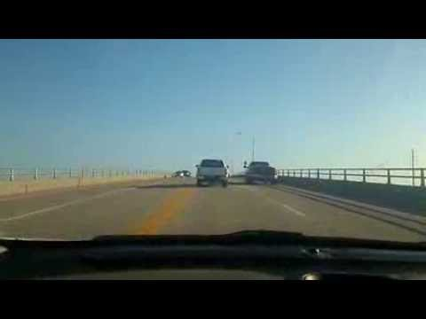 North topsail beach nc driving over tall bridge 6 6 15 for Jolly roger pier fishing report