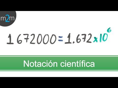 en que consiste la notacion cientifica en fisica