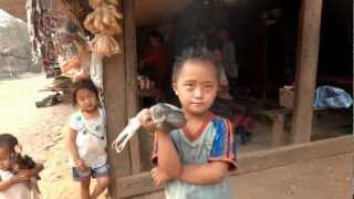 Hmong Laos, Little homeboy and his fish!