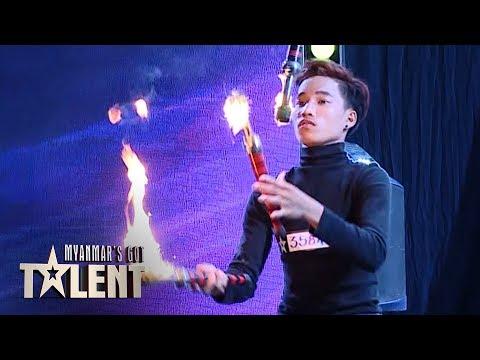 Aung Pyae: Auditions | Myanmar's Got Talent 2019