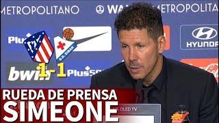 Atlético de Madrid 1-1 Eibar | Rueda de prensa de Simeone | Diario AS