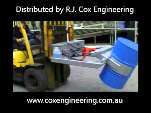Hydraulic Drum Rotator forklift Attachment with remote Control
