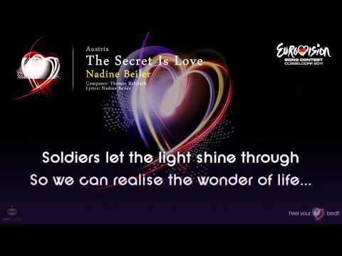 "Nadine Beiler - ""The Secret Is Love"" (Austria) - [Karaoke version]"