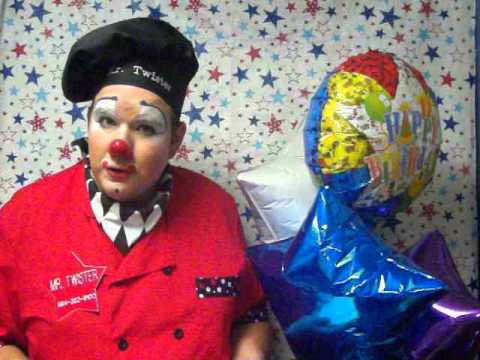 Mr. Twister the Clown Contest 2013 Announcement for Party winners!