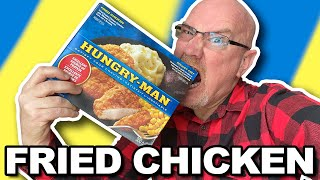 HUNGRY MAN DINNER in Self Isolation  FRIED CHICKEN