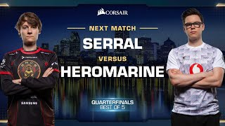 Serral vs HeRoMaRinE ZvT - Quarterfinals - WCS Fall 2019 - StarCraft II