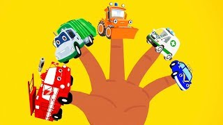 Finger Family kids Song daddy finger nursery rhymes car fire truck ambulance Toddler animation
