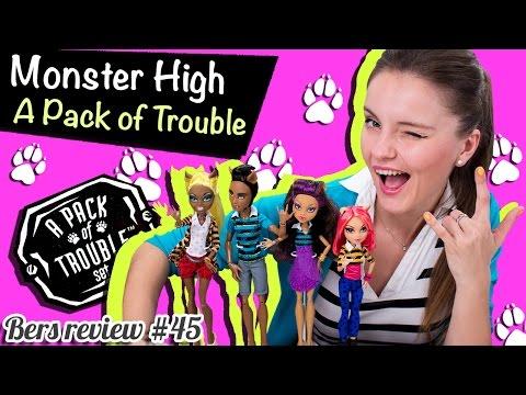 A Pack of Trouble Set (сет семья Вульфов) Monster High (Школа Монстров) Обзор/Распаковка CBX41