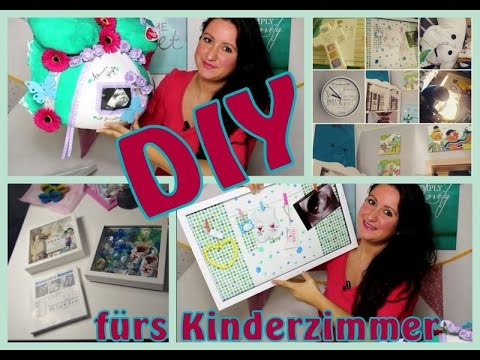 kinderzimmer diy ideen l babybauchabdruck l schnullerdeko l taufdeko youtube. Black Bedroom Furniture Sets. Home Design Ideas