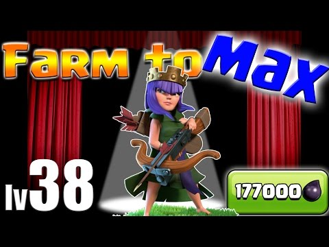 Clash of Clans: TH10 FARM TO MAX!!  LV38 Queen + FINAL LV10 Wall!!