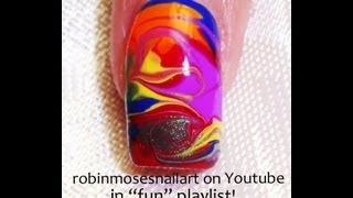 Rainbow Marble Nails! - No Water needed Tutorial