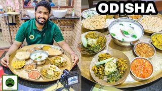 Odia Thali u0026 Pakhala with my Family | Odisha Food with Veggiepaaji