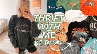 THRIFT WITH ME | $5 Vintage T-…