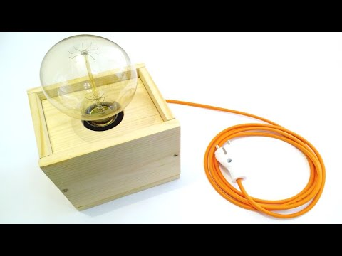 #diywoodlamp #voicecontrol #kybernetiks DIY wood Edison lamp with voice control