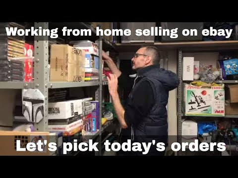 Picking Our Ebay Orders - Working From Home Selling On Ebay