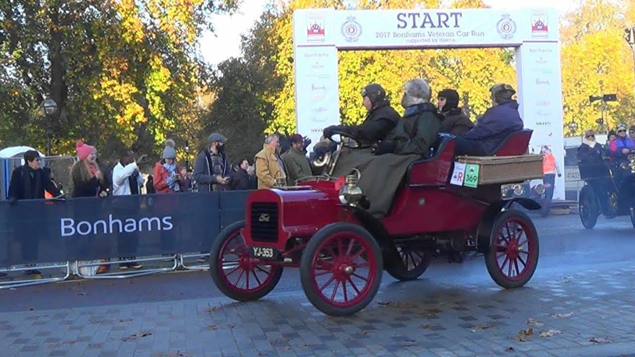 London to Brighton Veteran Car Run 2017 - The Start - YouTube