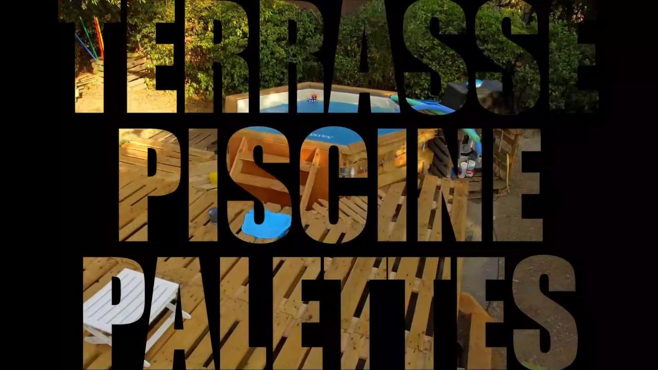 Le Lagon Projet Terrasse Et Piscine En Palette Bois 2017 Youtube