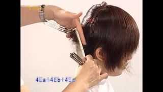 俏麗短髮女孩髮型,時尚對比髮型教學影片,韋恩智慧型組合剪刀-CTS Hairstyle 01(中文美髮教學)