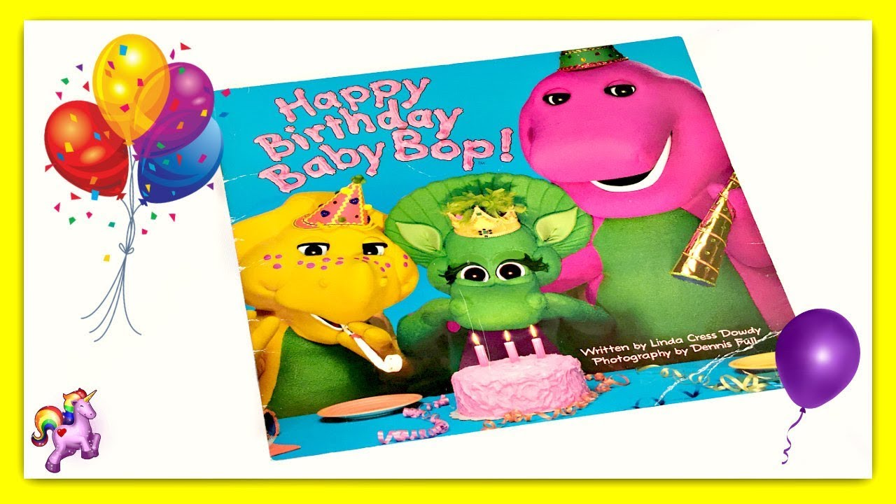 Barney Happy Birthday Baby Bop Read Aloud Storybook For Kids