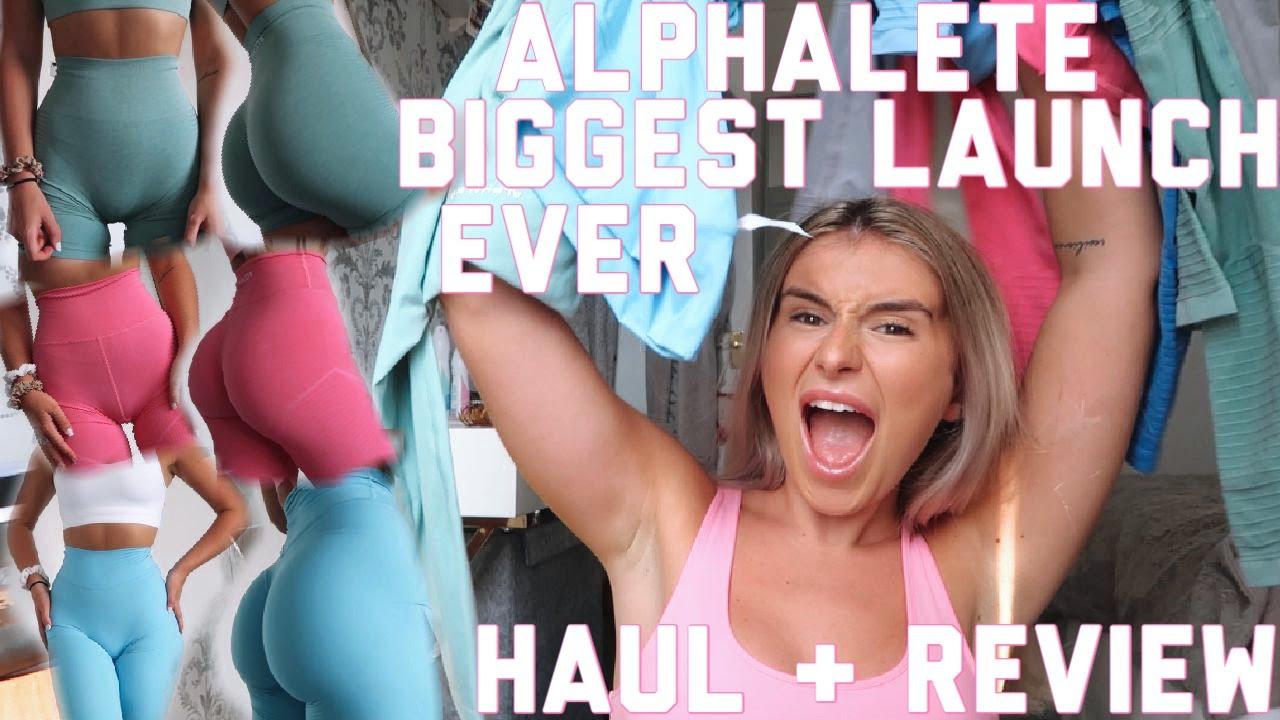 BIGGEST LAUNCH EVER | MOST FLATTERING LEGGINGS | Alphalete Honest Review & Try On August 2020