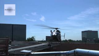 UH-72 Lakota Helicopter landing/taking off at the Denver Health Center helipad | AiirSource