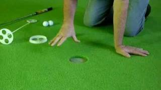 NEW!  Authentic, Drop-In, Putting Cups with Extraction Flag for BirdieBall Putting Greens