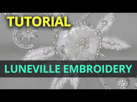 How To Tambour Embroidery DIY | Professional Tambour Luneville Beading Tutorials