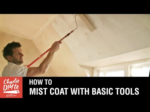 How to Paint New Plaster - with a Mist Coat