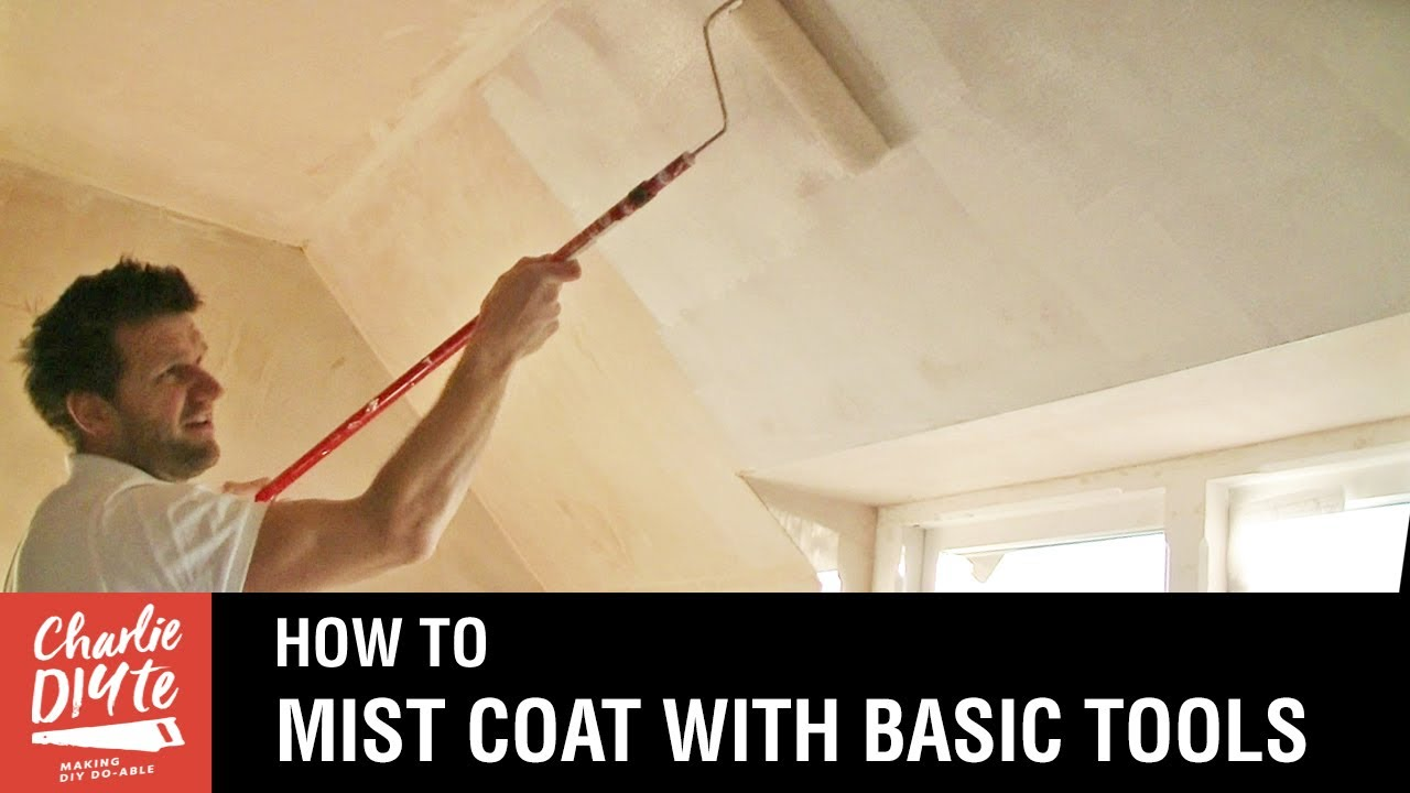 How to Paint New Plaster  with a Mist Coat  YouTube