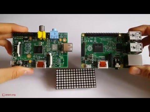 Red LED Matrix Module for Raspberry Pi
