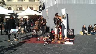 "Indian musicians playing ""Con te partirò"""