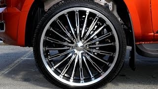 Holden Colorado truck 24 inch custom rims Panther Spider wheels