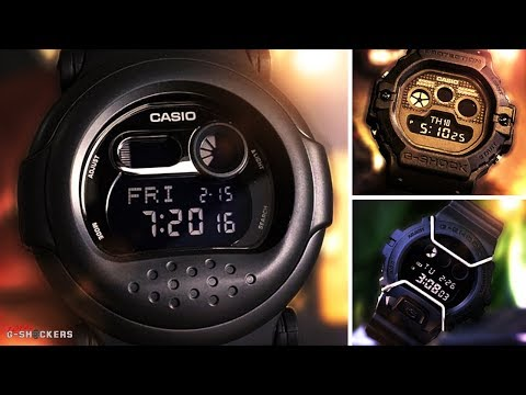 Casio G-Shock Classic Basic Black Out Retro Series Collection